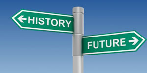 History - Future sign