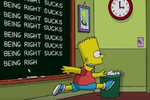 Bart Simpson - Being Right Sucks