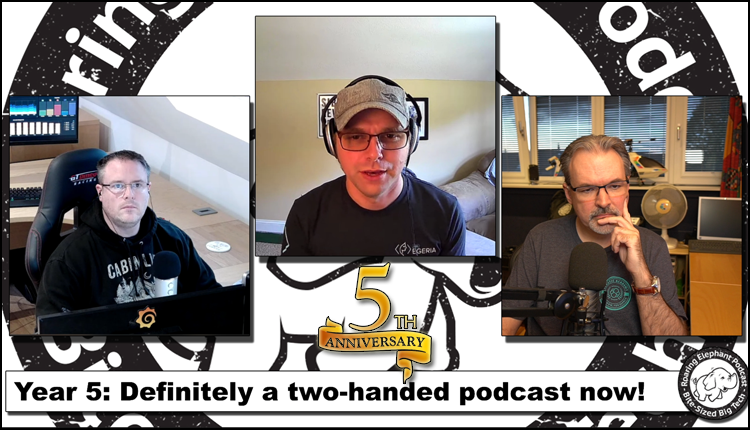 Episode 220 – Year 5: Definitely a two-handed podcast now! (Ft John Mertic.)