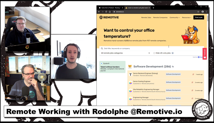 Episode 230 – Remote Working with Rodolphe @Remotive.io (2/3)