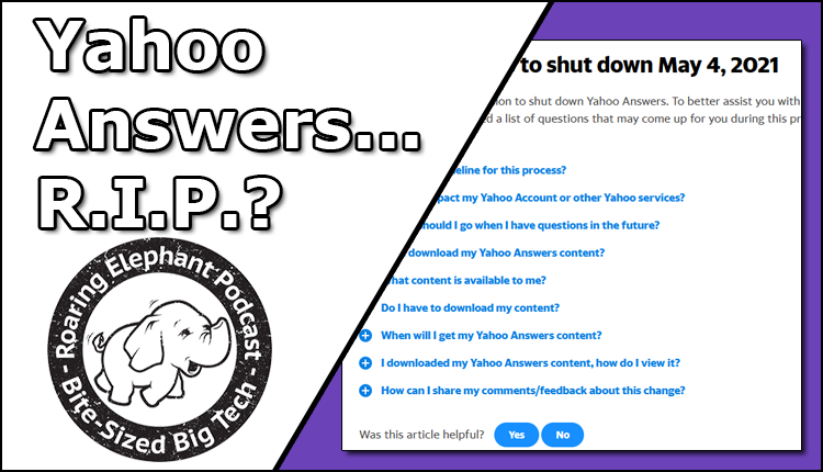 Episode 240  – Yahoo Answers… R.I.P.?